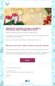 christmas email templates for from atompark software christmas email template 1