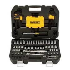 DEWALT <b>1</b>/4 in. x 3/8 in. Drive Polished Chrome Mechanics Tool <b>Set</b> ...