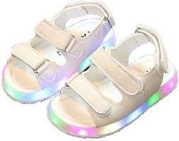 <b>Children's Sandals</b> Summer Led <b>Flat Shoes Lightweight Shoes Boys</b> ...
