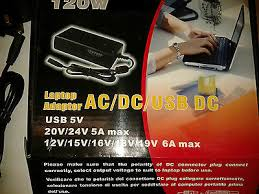 <b>NEW 120W</b> 12-24V UNIVERSAL AC/DC LAPTOP <b>CHARGER</b> ...