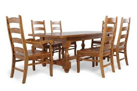 seven piece dining set: mb home switzer trestle seven piece dining set