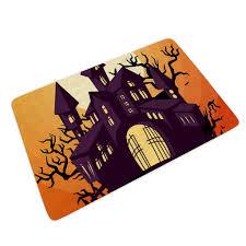 Zhcon <b>Halloween Castle</b> Moon Night <b>Pattern</b> Stylish Welcome Mats ...