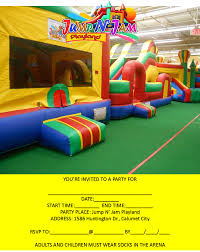indoor inflatable kids birthday party center invitations 708 862 2500 or 708 715 3168