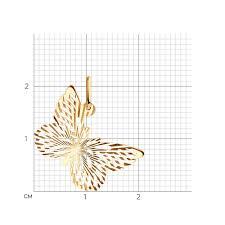 <b>Подвеска</b> «<b>Бабочка</b>» из золота арт. 033473 от <b>SOKOLOV</b>