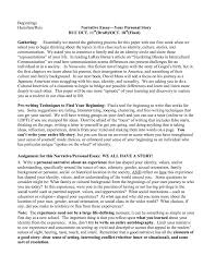 narrative essays examples for college Free Essays and Papers