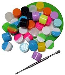 HONEYYE <b>2ml</b> Silicone Container Oil Wax Concentrate Jars <b>100pcs</b> ...