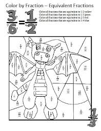 1000+ ideas about Equivalent Fractions on Pinterest | Fractions ...Equivalent Fractions Worksheets...these coloring sheets make learning about equivalent fractions fun (