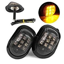<b>Motorbike Turn</b> Signal Indicators - MASO 2PCS <b>12V LED</b> Amber ...