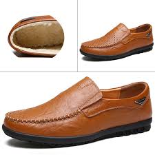 <b>Mens Casual</b> Shoes Genuine <b>Leather</b> Lightweight Moccasins Shoes ...