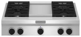 Gas Stainless Steel Cooktop Kitchenaid 36 Gas Cooktop Silver Gxw6536dxs Best Buy