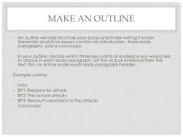 how to write an analytical essay  make an outline
