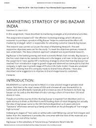marketing strategy of big bazaar retail