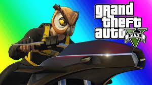 GTA 5 Online Funny Moments - Flying Rocket Bike Race! - YouTube