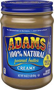 <b>Natural Peanut Butter</b> - Adams <b>Peanut Butter</b>