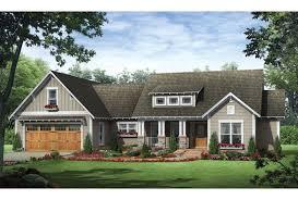 ePlans Craftsman House Plan   Three Bedroom Craftsman Ranch      Front