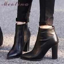 <b>Meotina</b> Genuine Leather <b>Boots</b> Women <b>Shoes</b> Platform High <b>Heel</b> ...