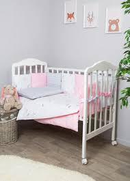 <b>Комплект</b> в кроватку для новорожденных 7 <b>предметов</b> – Сатин