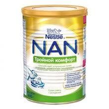 <b>Молочная смесь NAN Тройной</b> комфорт с рождения 400 гр ...