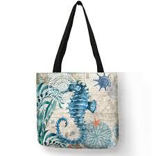 Hot Simple <b>Cartoon Animal Print</b> Handbag Penguin Cat Bird <b>Pattern</b> ...