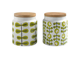 Green Kitchen Canister Set Retro Ceramic Canister The Treasure Hunter Well Designed
