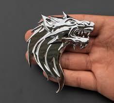 1Pc Chrome Metal 3D <b>Wolf Head Auto Car</b> Motorcycle Emblem ...