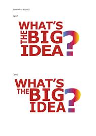 s drive big idea