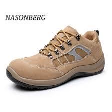 <b>NASONBERG</b> Breathable <b>Men Shoes</b> Steel Toe <b>Boots</b> Puncture ...