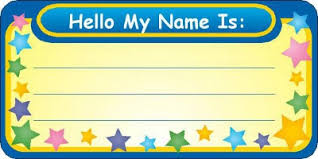 Image result for images name tags