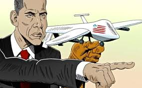 Image result for Obama's first drone CARTOON