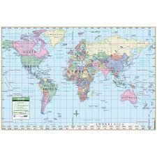 <b>World Simple</b> Kappa <b>Wall Map</b> - The <b>Map</b> Shop