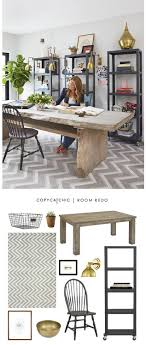 chic home office decor: genevieve gorders rustic home office featured recreated for less by copy cat chic look for less home decor more