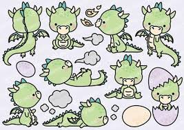 Premium Vector Clipart - <b>Kawaii</b> Dragon - <b>Cute</b> Baby Dragons ...