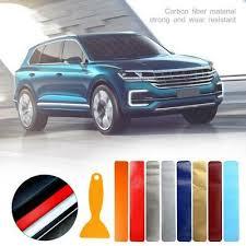 <b>4PCS Carbon Fiber</b> 3D <b>Car</b> Sticker Door Sill Scuff Plate Anti Scratch ...