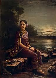 Radha <b>in the Moonlight</b> - Raja Ravi Varma — Google Arts & Culture