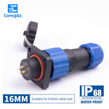 <b>Waterproof</b> Connector SP16 Type <b>IP68</b> Cable Connector Plug ...