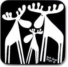 Heidi Lange Moose Herd Trivet   Hygge   <b>Nordic</b> symbols, Moose ...