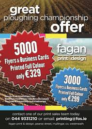 fagans printing design special ploughing championship offer