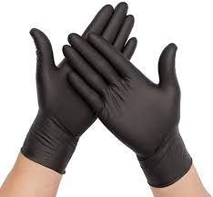 100PCS Disposable Nitrile Vinyl Gloves, Latex Free ... - Amazon.com