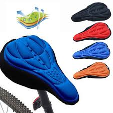 Outdoor <b>3D</b> Soft <b>Cycling Bicycle Silicone Bike</b> Seat Cover Cushion ...