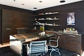 double sided desk home office contemporary with black black shag rug image by l2 interiors black desks for home office