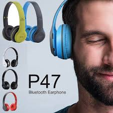 P47 Headphone Bass Boosted Stereo <b>Head Mounted Bluetooth</b> ...
