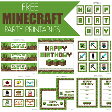 printable minecraft birthday invitation template minecraft birthday invitation template invitations card printable