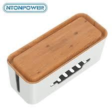 <b>NTONPOWER Hard Plastic Power</b> Strip Storage Box Cable ...