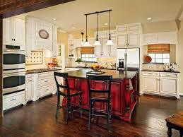 style kitchen red island