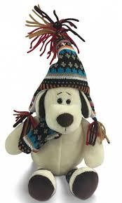 Мягкая <b>игрушка ABtoys Собака в</b> шапке 24 см - купить в Москве ...