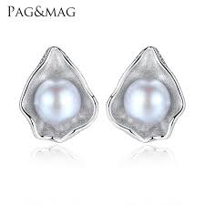 2019 <b>PAG&MAG Charm Shell Design</b> Pearl Jewelry 925 Sterling ...