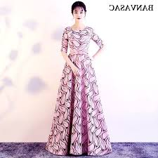 <b>Banvasac 2018</b> O <b>Neck</b> Bow Sash A Line Long Evening Dresses El ...