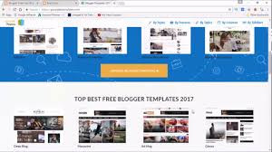 blogger template upload and modify blogger template 2017 upload and modify