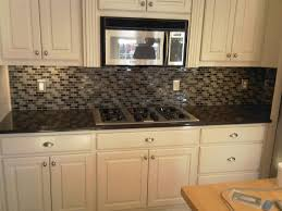 glass subway tile backsplash picture kitchen