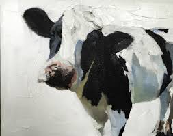 Etsy Art Cow Painting Cow Art Cow Print Cow Oil Painting Holstein Cow